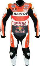 Honda Repsol Motorbike Leather Suit Cowhide In 1 or 2 pc /Ce Approved Protection