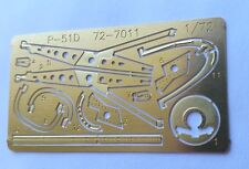 KMC 72-7011 PhotoEtch Brass - 1/72nd scale P-51 D  Beautiful detail parts