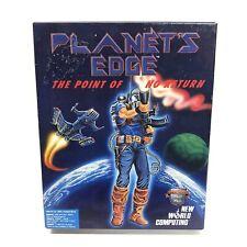 Planet's Edge PC Big Box Computer Game Complete Vintage CIB Floppy Disk