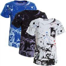 Jungen-T-Shirts, - Polos & -Hemden Größe 104 aus Baumwollmischung mit Rundhals