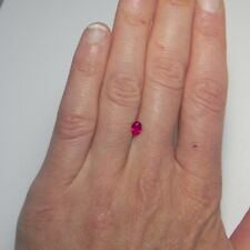 Unheated Vivid Ruby Oval Cut Ruby Loose Ruby No Heat Anniversary Engagement