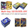 200Pcs 95 GX + 5 MEGA Cards Holo Flash Trading Cards Bundle Mixed ~ 50% OFF ~ UK