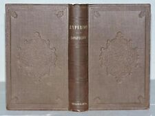 HYPERION A ROMANCE by HENRY WADSWORTH LONGFELLOW 1855 1st TICKNOR EDITION