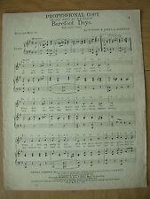 Vintage Partituras-Oh Boy qué alegría que teníamos en-Descalzo días - 1923