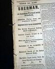 CONFEDERATES FAILING Civil War Nearing the End Ulysses S. Grant 1865 Newspaper