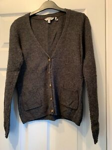 Lovely FAT FACE Charcoal Grey Lightweight Ladies Cardigan Size 10