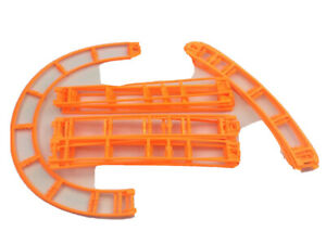 "20 Micro Knex Track Orange 8"" Straight & Curved  K'nex Coaster Tracks Assortment"