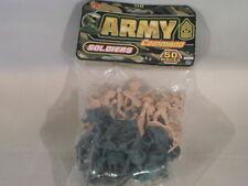 """Toy Soldiers Ja-Ru Army Command Plastic 2"""" Military Men NIP 50 PCS         D11-3"""