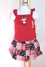 Gymboree 4th Of July Girls Size 2T Skirt Top Shirt America's Cutie Dog Beach NWT