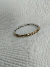 Ti Sento Milano Italy Bangle Sterling Silver With Gold Plated Dot Design Top