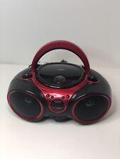 Jensen Cd-490 Cd/Headphone Jack/Cd-Rw Playback/Radio/Cd-R Playback Boombox Red