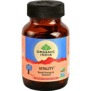 ORGANIC INDIA Vitality 60 Capsules (Pack of 2) Free Shipping