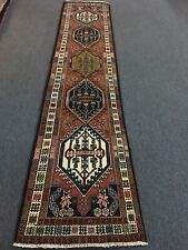 On Sale Beautiful Genuine Vintage Hand Knotted Tribal Runner Rug 2'1�x9'7�#1949