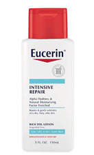 2 NEW EUCERIN INTENSIVE REPAIR FRAGRANCE FREE RICH RICH FEEL LOTION
