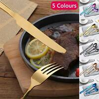 4pcs Stainless Steel Cutlery Sets Rainbow Colourful Iridescent Spoon Forks Set