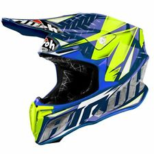 Airoh Twir18 Casque Moto Off Road Twist Iron Blue Gloss S