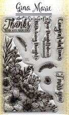 Gina Marie clear unmounted cling stamp set - Floral Corner set