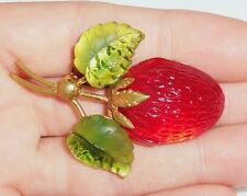 Vintage Austria Fruit Collection STRAWBERRY Pin Brooch
