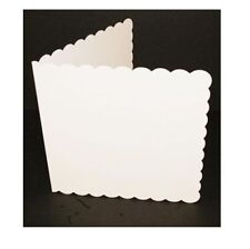"50 x 6"" x 6"" WHITE SCALLOPED BLANK CARDS & ENVELOPES CARD MAKING CRAFT 836"