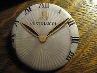 Bertolucci Swiss Made Italian Design Watch Advertisement Pocket Lipstick Mirror