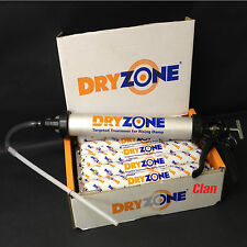 DRYZONE DPC 600ml FOIL TUBE x5 + App Gun DAMP PROOF CREAM Rising Damp Treatment