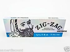 NEW 6 Pack Zig Zag Ultra Thin 1 1/4 Cigarette Rolling Paper