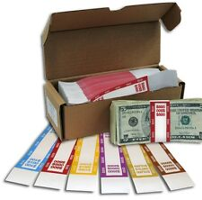 100 SELF SEALING CURRENCY money STRAPS  BANDS YOU  CHOOSE DENOMINATIONS