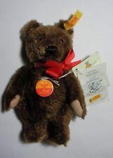 """STEIFF BEARS COLLECTION  """"1980 STEIFF DECADE BROWN TEDDY BEAR"""" 029080 YELLOW TAG"""