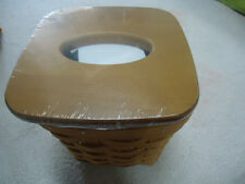 Longaberger Tall Tissue Basket Warm Brown Stain (No Lid) - New