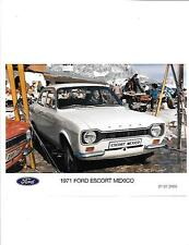 """1971 FORD ESCORT MEXICO 'HISTORICAL' PRESS PHOTO  """"sales brochure related"""""""