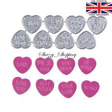 8 Love Heart sweet dies metal cutting die cutter UK seller Fast Posting