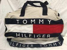 Vintage Tommy Hilfiger Big Color Block Logo Duffel Gym Bag 12.5 x 12.5 x 20