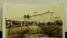 Vintage Los Angeles California Photo Card THE AMBASSADOR HOTEL D.C.Barton B-66