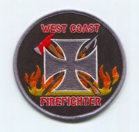 West Coast Firefighter Fire Department Patch Unknown State
