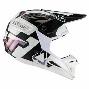 Motorradhelm Cross Enduro Leatt GPX 5.5 V 19.2 Weiß XXL Faser Offroad 63 64 CM