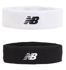 New Balance PF Head Band Running White Black Tennis Hairband Bands GU8BM102-10