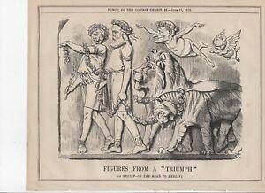 1878 Punch Cartoon FIGURES FROM A TRIUMPH Disraeli & Salisbury,Treaty of Berlin