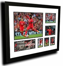 DANIEL STURRIDGE LIVERPOOL FC SIGNED LIMITED EDITION FRAMED MEMORABILIA