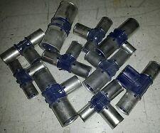 Stock lotto 50 pezzi Wavin Raccordi a pressare a T misti tubo acqua multistrato