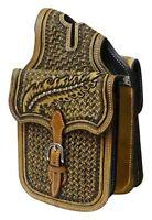 Showman Basket Weave Tooled Leather Western Horn Bag! NEW HORSE TACK!!!