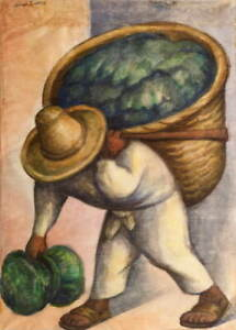 Diego Rivera Cabbage Seller Poster Reproduction Paintings Giclee Canvas Print
