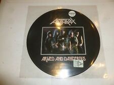 ANTHRAX - Armed & Dangerous - Scarce Numbered picture disc Vinyl LP (No 2779)