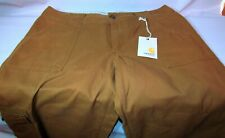 NEW Womens Carhartt  Brown Cargo Cropped Pants Size 10 MSRP $60 FREE SHIPPING!