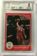 1985-86 Star All-Rookie Team incomplete set, 9 cards,  Barkley grade 8, NM-MT,