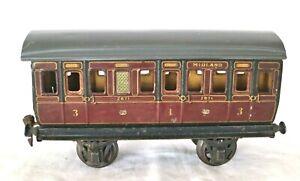 AB821: Vintage Märklin Gauge 1 1st & 3rd Class Passenger Coach 2871