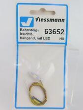 63652 VIESSMANN - H0 / ECRAN TOIT led HO / H0 Bahnsteigleuchte hangend avec L