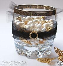 12 ROUND Gold Wedding Diamante Rhinestone Slider Buckle