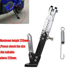 Universal Black CNC Motorcycle Kickstand Side Stand Adjustable Leg Prop Post 1x