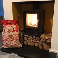 Personalised Deluxe Printed Nordic Xmas Stocking Sack Luxury Santa Christmas