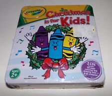 Crayola Christmas Is for Kids 2 CD Set w/ Coloring & Drawing Book + 8 pk Crayons